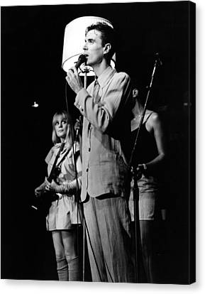 Talking Heads 1983 Canvas Print by Chris Walter