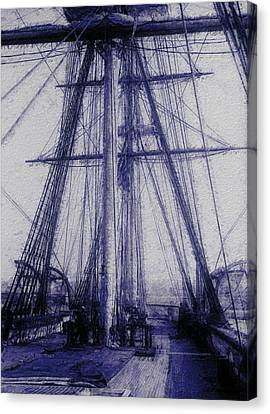 Tall Ship 2 Canvas Print by Jack Zulli