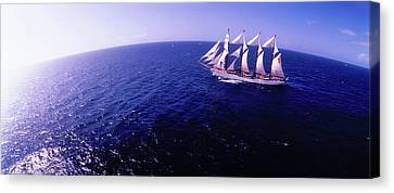 Tall Ship In The Sea, Puerto Rico, Usa Canvas Print by Panoramic Images