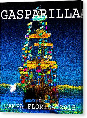Tall Ship Jose Gasparilla Canvas Print by David Lee Thompson