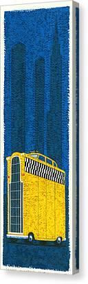 Tall Taxi Canvas Print by Brian James
