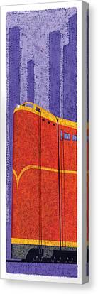 Tall Train Canvas Print by Brian James