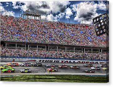 Talladega Superspeedway In Alabama Canvas Print by Mountain Dreams