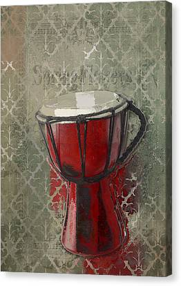 Tam Tam Djembe - 083134085 Canvas Print by Variance Collections