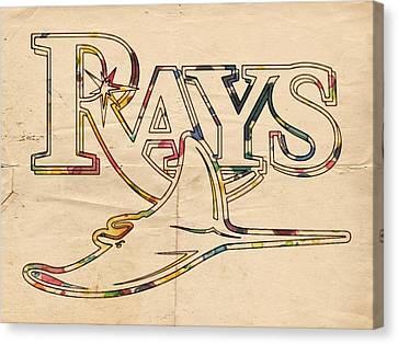 Tampa Bay Rays Logo Art Canvas Print by Florian Rodarte