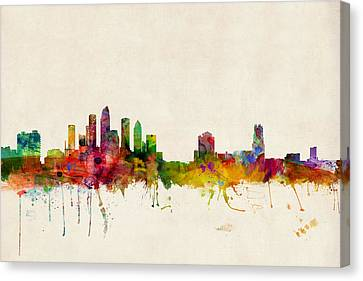 Tampa Florida Skyline Canvas Print by Michael Tompsett