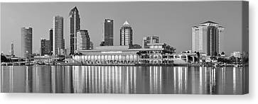 Tampa Panorama Canvas Print by Frozen in Time Fine Art Photography