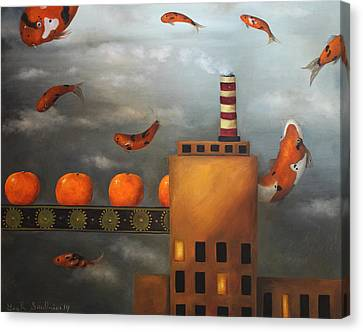 Tangerine Dream Canvas Print by Leah Saulnier The Painting Maniac
