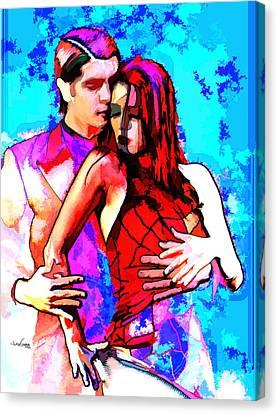 Tango Argentino - Love And Passion Canvas Print by Reno Graf von Buckenberg