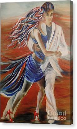 Tango Whirl Wind Canvas Print by Summer Celeste