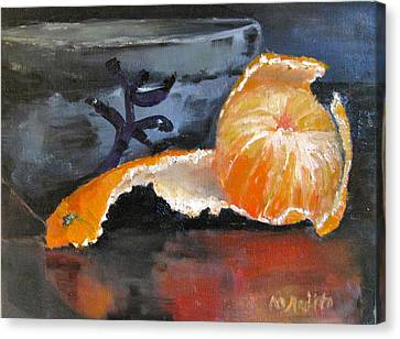 Tangy Tangerine Canvas Print by MaryAnne Ardito