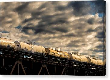 Tank Cars Canvas Print by Bob Orsillo