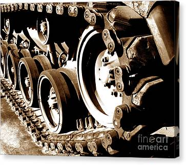 Tank Tracks Canvas Print by Olivier Le Queinec
