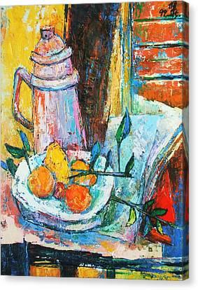 Tankard And Fruit Canvas Print by Siang Hua Wang