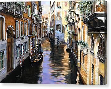 Tanta Luce A Venezia Canvas Print by Guido Borelli