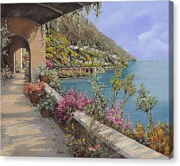 Tanti Fiori Sulla Terrazza Canvas Print by Guido Borelli
