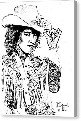 Tanya Tucker Canvas Print by Dave Gafford
