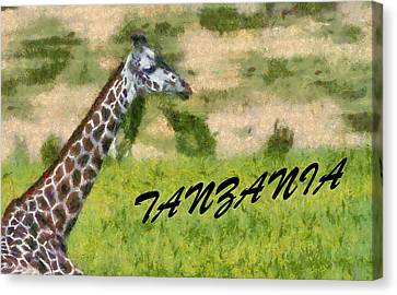 Tanzania Poster Canvas Print by Dan Sproul