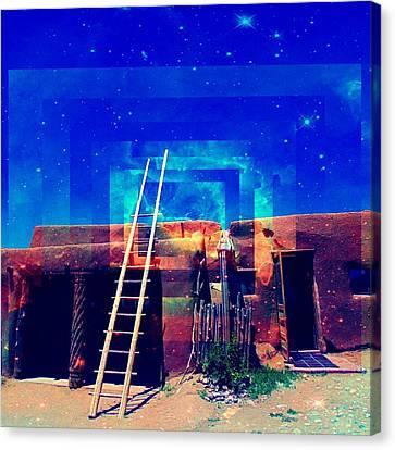 Taos Dreams Come True Canvas Print by Michelle Dallocchio