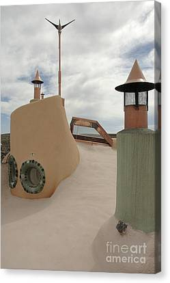 Taos Earth Ship House Canvas Print by Jerry McElroy