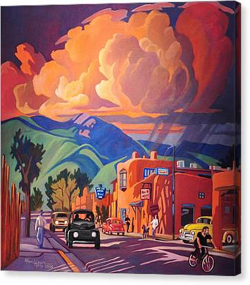 Taos Inn Monsoon Canvas Print by Art James West