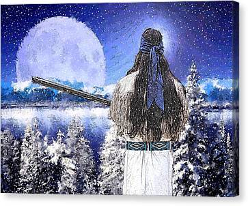 Taos Mountain Man Canvas Print by Roger D Hale