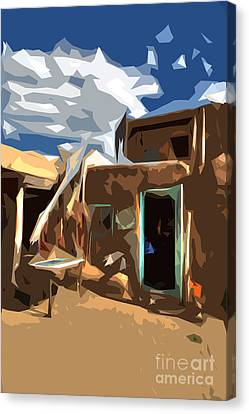 Taos Pueblo Abstract Canvas Print by K D Graves