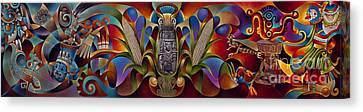 Tapestry Of Gods Canvas Print by Ricardo Chavez-Mendez