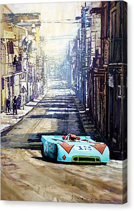 Targa Florio 1970  Porsche 908 Siffert Canvas Print by Yuriy Shevchuk