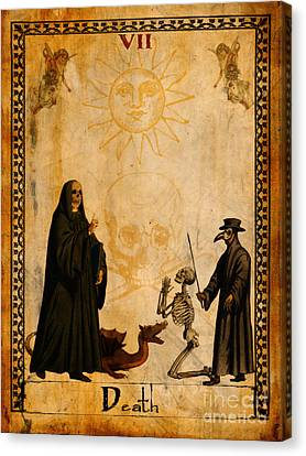 Tarot Card Death Canvas Print by Cinema Photography