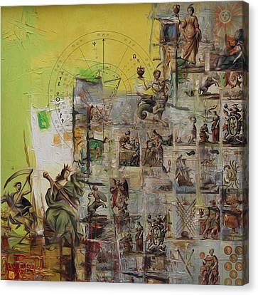 Tarot Card Set Canvas Print by Corporate Art Task Force