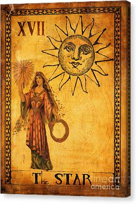 Tarot Card The Star Canvas Print by Cinema Photography
