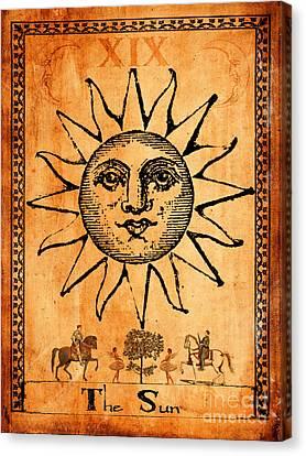 Tarot Card The Sun Canvas Print by Cinema Photography