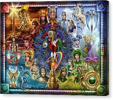 Tarot Of Dreams Canvas Print by Ciro Marchetti