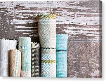 Tartan Fabrics Canvas Print by Tom Gowanlock