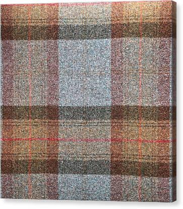 Tartan Wool Canvas Print by Tom Gowanlock