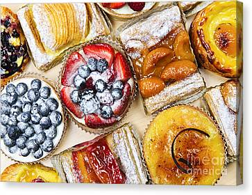 Tarts And Pastries Canvas Print by Elena Elisseeva