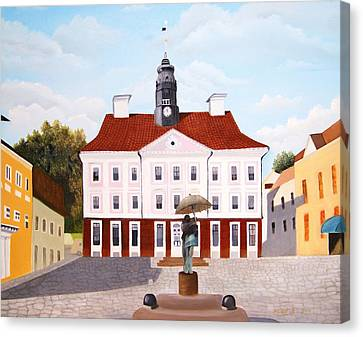 Tartu Town Square         Canvas Print by Misuk Jenkins