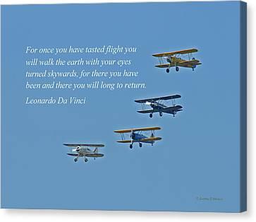 Tasting Flight Canvas Print by Jonathan E Whichard