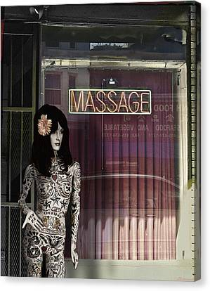 Tattoo And Massage Canvas Print by Larry Butterworth
