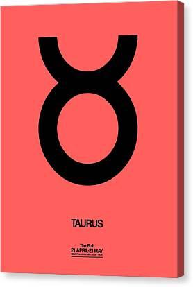 Taurus Zodiac Sign Black  Canvas Print by Naxart Studio
