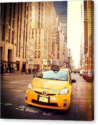 Taxi Canvas Print by Dan Sproul