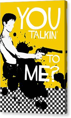Taxi Driver Movie-quote-with-a-gun Canvas Print by Edgar Ascensao