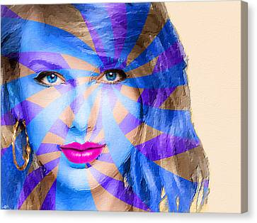 Taylor Swift Blue Horizontal Canvas Print by Tony Rubino
