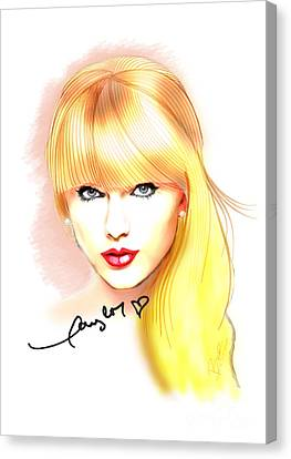 Taylor Swift Canvas Print by Dave Bear Atienza