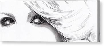 Taylor Swift - Eyes  Canvas Print by Furniga Niculina