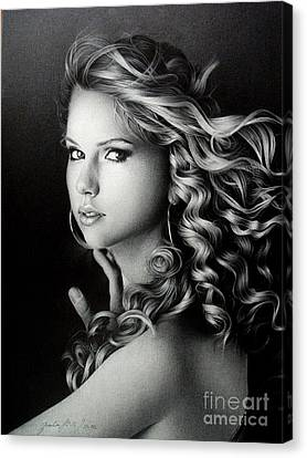 Taylor Swift Canvas Print by Miro Gradinscak
