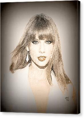 Taylor Swift Sketch Canvas Print by Anibal Diaz