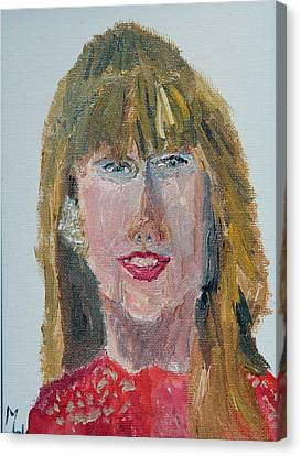 Taylor Swift Sketch Canvas Print by Michael Helfen