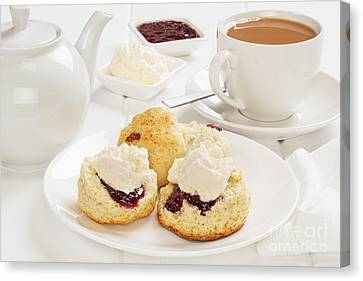 Tea And Scones Canvas Print by Colin and Linda McKie